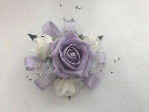 Bouquet Sposa Bracciale.Bouquet Sposa Fiori Lilla Pendente Prom Bouquet Da Polso Bracciale