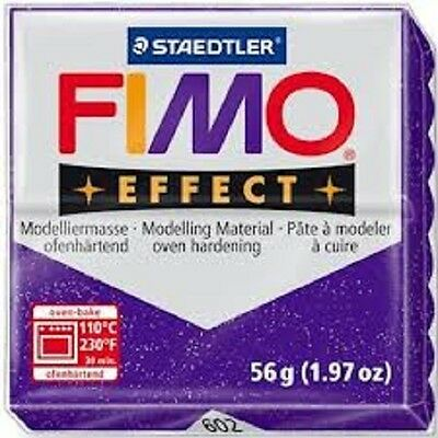Fimo Effect Polymer Clay  - Glitter Purple No 602