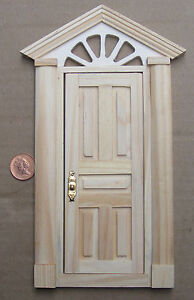 1-12-Scale-External-Wooden-Door-amp-Portico-Tumdee-Dolls-House-Fairy-Accessory-499