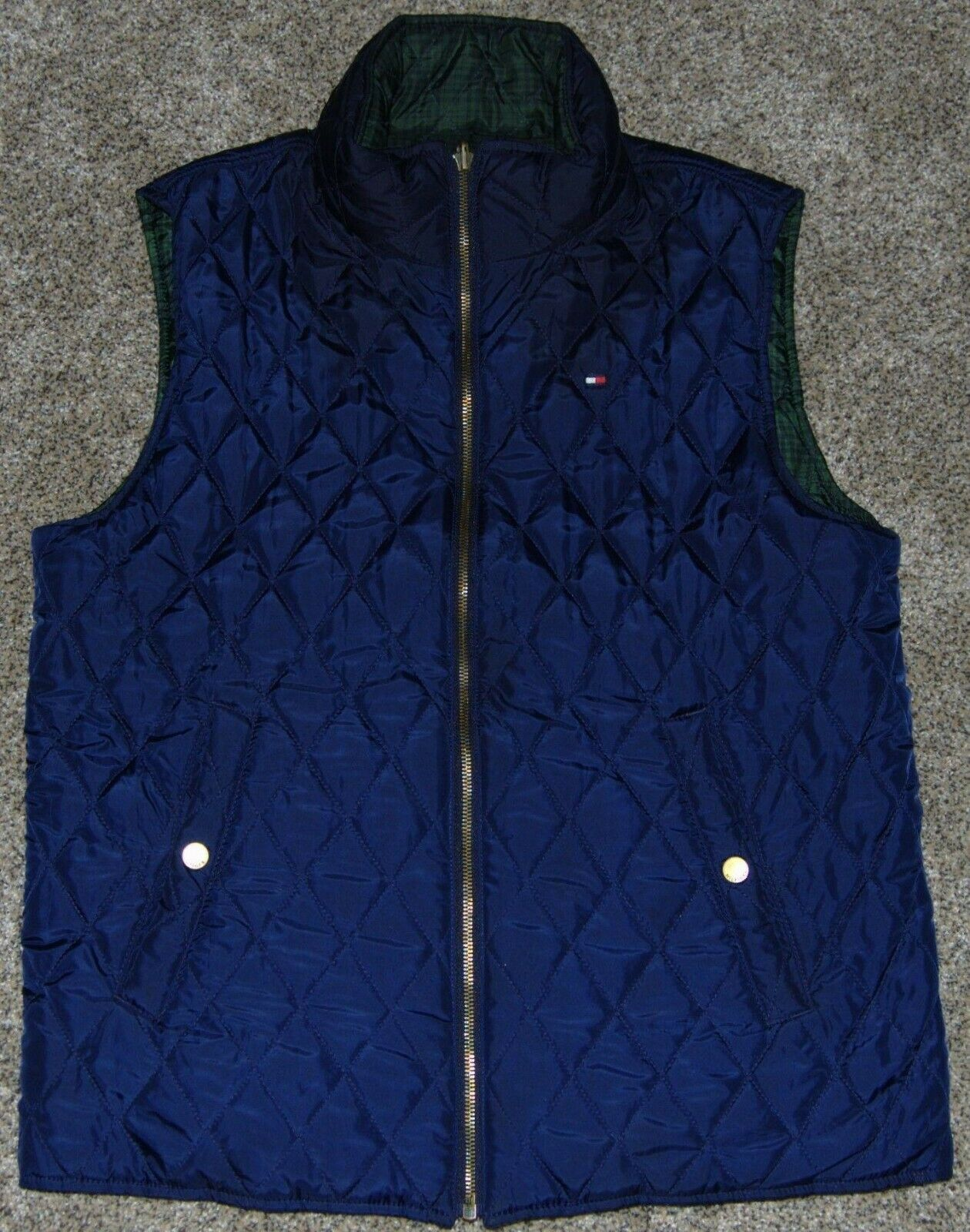 Vintage Tommy Hilfiger Quilted Reversible Women's… - image 1