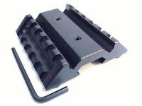Low Profile 45 Degree Offset Flat Top Dual Side Picatinny Weaver Rail Mount