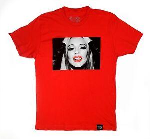 dc7e127fb VAMPIRE LIFE Lindsay Lohan Graphic Tee By JIM JONES Red 100% Cotton ...