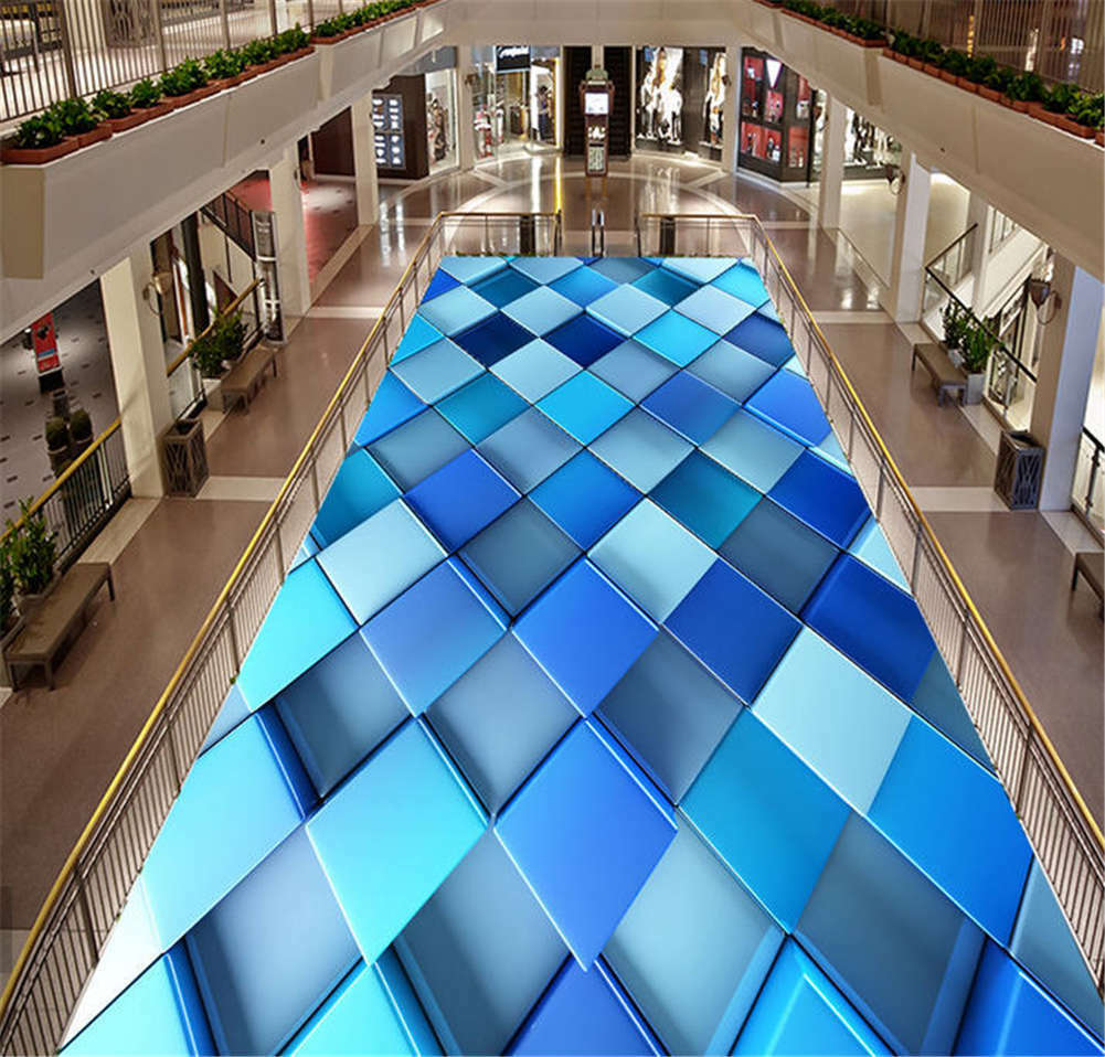Cool Peppermint 3D Floor Mural Photo Flooring Wallpaper Home Print Decoration