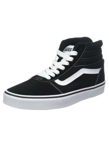 Ante Casual Y Zapatillas Vans Zapatos Blanco Negro Top Hi Rayas Lona Skater Ward zA4qwX