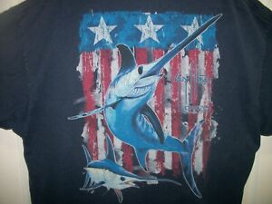Guy Harvey Men/'s Swordfish Flag T-Shirt
