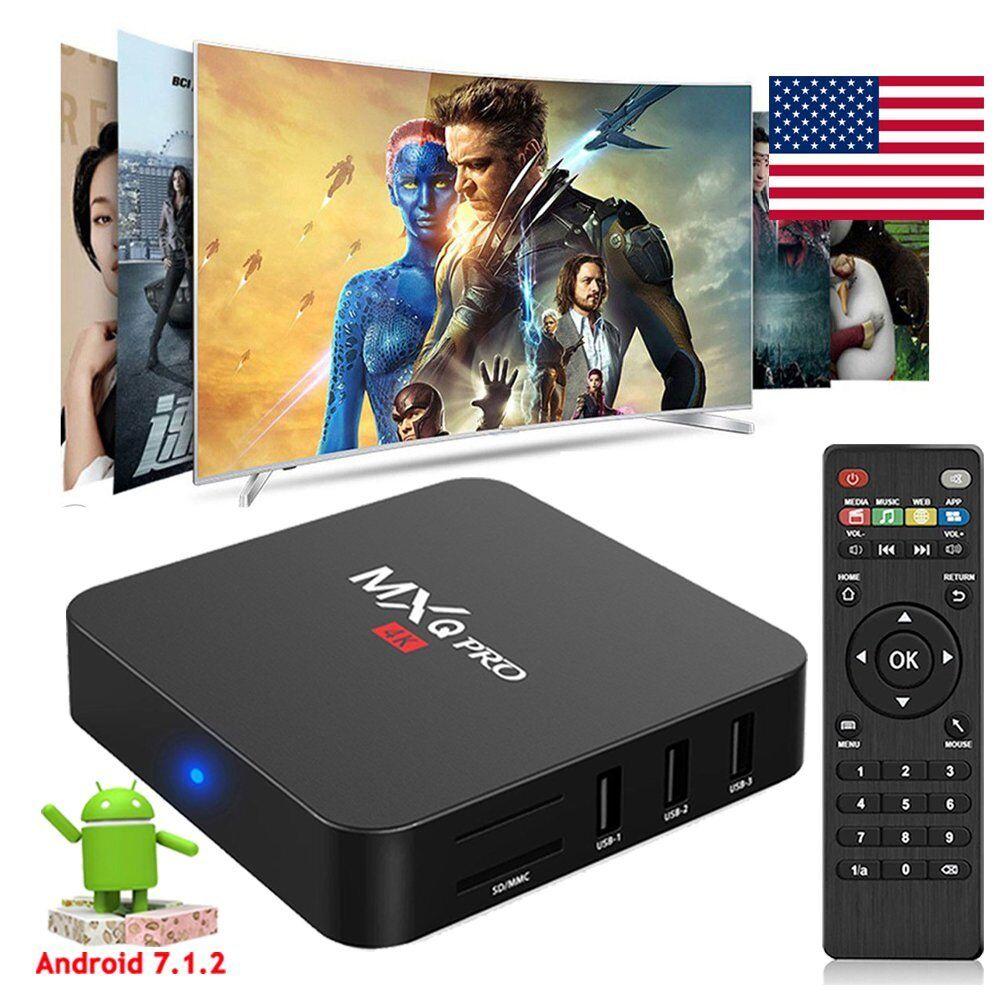 MXQPRO Android 7.1.2 Quad Core S905W 4K H.265 TV BOX WIFI HDMI 3D Media MINI PC