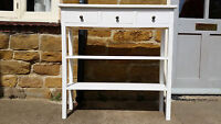 H90 W80 D35cm Bespoke Console Hall Bedroom Table 3 Drawers 2 Shelves Untreated