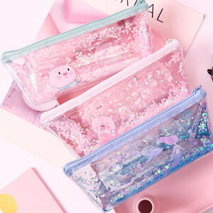 Kawaii-Pig-Large-Capacity-PVC-Student-Stationery-Storage-Bag-Pencil-Case