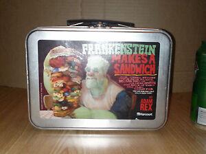 FRANKENSTEIN-MAKES-A-SANDWICH-Metal-Tin-Lunch-Box-Dracula-RARE-Publisher-Promo