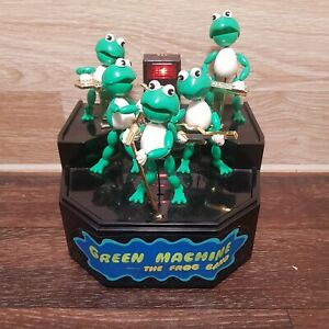Vintage-Green-Machine-The-Frog-Band-1989-Sound-Activated-Toy