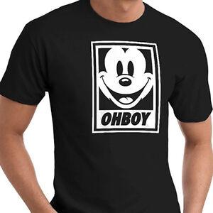 Mickey-Mouse-Oh-Boy-Obey-Parody-Cotton-Crew-Neck-Short-Sleeve-T-Shirt-Tee-XXXL