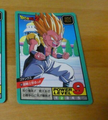 DRAGON BALL Z GT DBZ SUPER BATTLE POWER LEVEL CARDDASS CARD CARTE 509 JAPAN NM