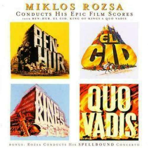 Miklós Rózsa : Conducts His Epic Film Scores CD (2004) - Excellent Condition
