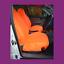 thumbnail 1 - Front Car Van Fluorescent Orange Waterproof LARGE Universal Airbag Seat Covers