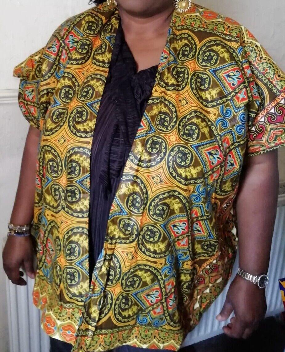 Ladies oversized one size African Print Ankara Kimono