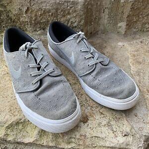 ab740ef77c20 Image is loading NIKE-SB-Zoom-Stefan-Janoski-grey-suede-sneakers-