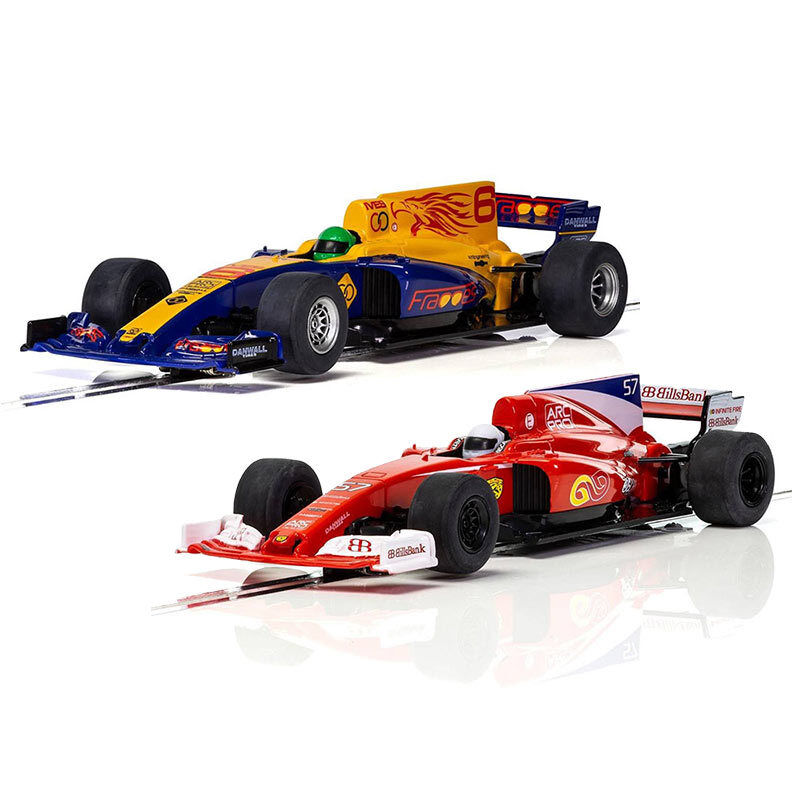 SCALEXTRIC SLOT CARS CARS CARS C3958 C3960 Formula One-RED STALLION & Bleu Ailes abd2a5
