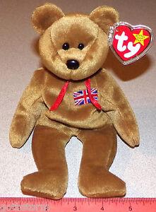 Ty Britannia Collection Original Ty Beanie Babies Brown Bear Teddy Bear w/Tag