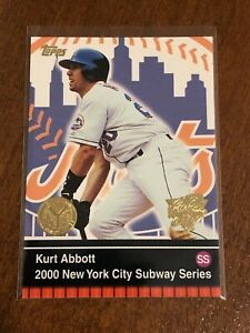 2000-World-Series-Topps-Baseball-Base-Card-10-Kurt-Abbott-New-York-Mets