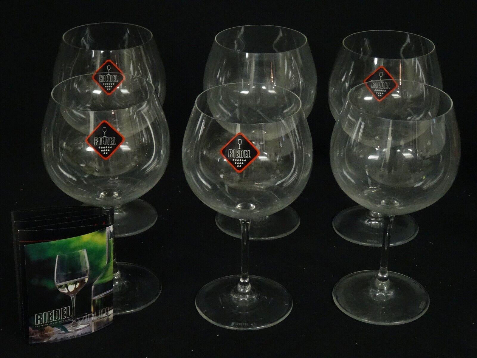 LOT OF 6 RIEDEL Crystal CHARdamenY MONTRACHET 6416 97 600 CCM WINE GOBLET  7.5