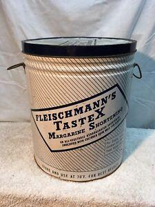 Primitive50lb-Margarine-Metal-Tin-Can-Kitchen-Decor-Vegetable-Shortening-Tastex