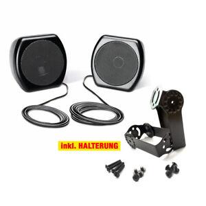 sinustec aufbau boxen speaker f r auto pkw kfz lkw traktor 100w halter ebay. Black Bedroom Furniture Sets. Home Design Ideas