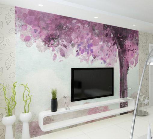 3D Lila Baum 62221 Fototapeten Wandbild Fototapete BildTapete Familie DE