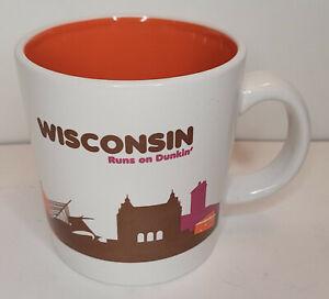 Dunkin Donuts Mug Wisconsin Runs On Coffee Cup 2013 Destination Series 16 oz