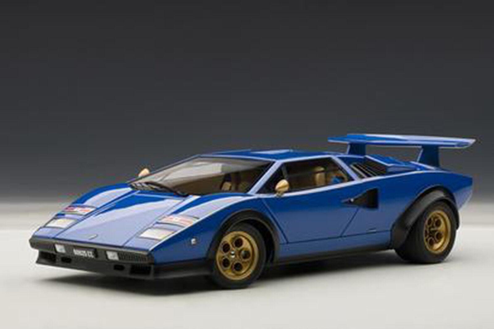 AUTOart Lamborghini Countach Walter Wolf Edition bleu 1 18  BELLE  NOUVELLE VERSION