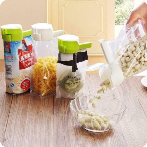Reuseable Bag Clip Storage Food Sealing Kitchen Sealer Nozzl Cap Type Spray A6E8