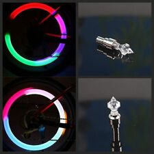 4PCS Motion Pagoda Neon Lamp Wheel Tire Cap LED Valve Stem Light
