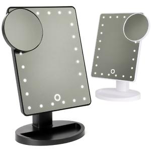 del light up lumineux maquillage miroir de salle de bains. Black Bedroom Furniture Sets. Home Design Ideas