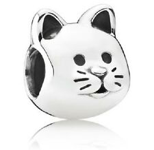 NEW AUTHENTIC PANDORA Sterling Silver Curious Cat Animal Charm - 791706
