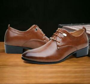 Casual-Pointed-Toe-Evening-UK10-Men-039-s-Formal-Oxfords-British-Business-A376