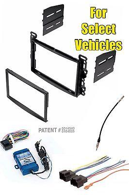 Stereo Radio Install Dash Trim Mount Kit Combo w/Steering Wheel Audio Adapter