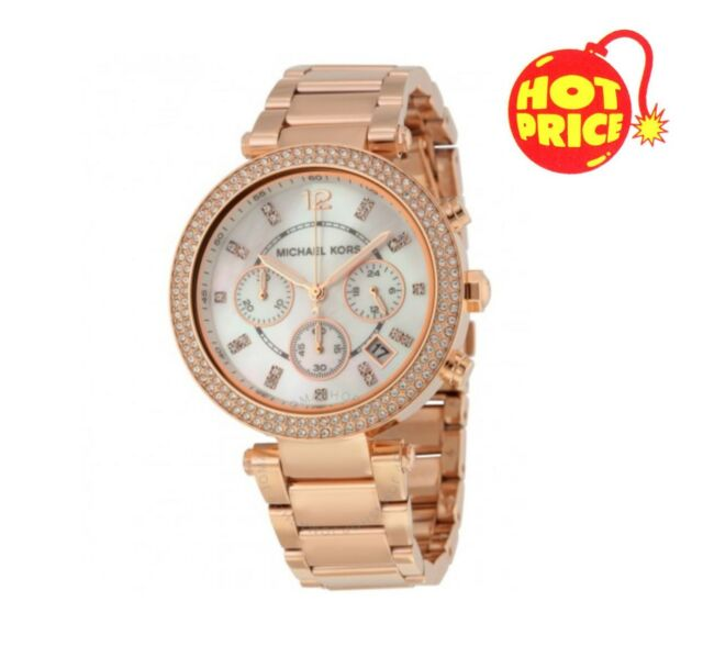 NEW MK5491 MICHAEL KORS PARKER ROSE GOLD WOMEN'S LADIES CHRONOGRAPH WATCH