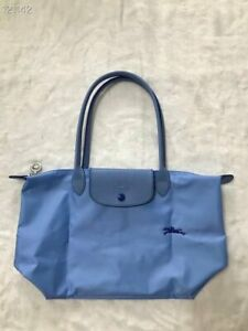 France Made Longchamp Le Pliage Club Collection Small Tote Blue   eBay