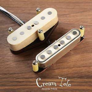Cream-Telecaster-pickup-set-fit-Fender-Telecaster-Scatterwound-tele-pickups