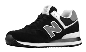 NEW BALANCE 574 CLASSIC BLACK MEN'S D SNEAKERS 1382 SIZE 10 D MEN'S aa7c19