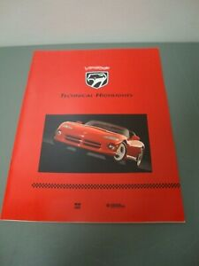 1992 Dodge Viper RT/10 Technical Highlights Brochure  25 Pages