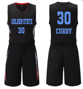 timeless design 9cd73 89228 Details about KIDS BOY YOUTH STEPHEN CURRY #30 BASKETBALL JERSEY W/ SHORT  SET 2XS-M