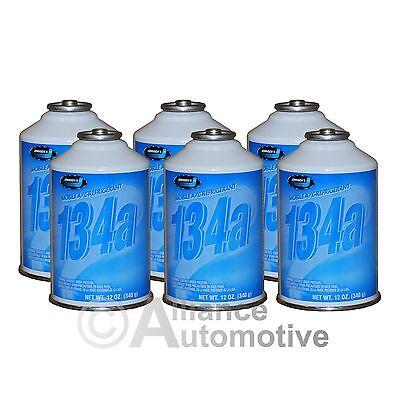 6 Cans R-134a Johnsen's AC Automotive Refrigerant R134 (12oz Cans)