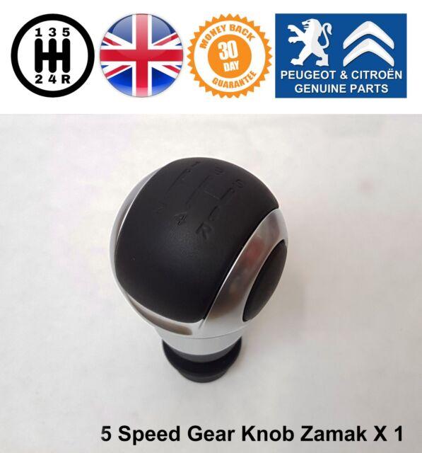 Peugeot 508 807 3008 5008 Partner Gear Knob Shift Stick Manual 5 Speed Black