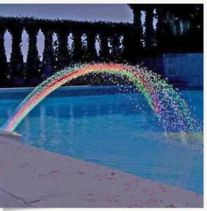 Swimming Pool Rainbow Waterfall Fountain Lights Show Above Ground Colorful Light Ebay