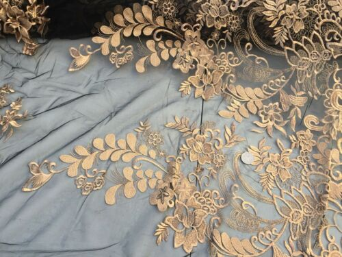 Guipure Net lace sewing per metre /'Golden Times/' dress fabric