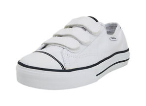 Vans Women Youth Shoes Prison Issue True White Black Canvas 3 V ... 9cf1e5d285