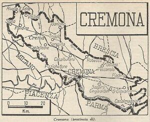 Cartina Geografica Provincia Di Cremona.Dettagli Su A4861 Provincia Di Cremona Carta Geografica Antica Del 1953 Old Map