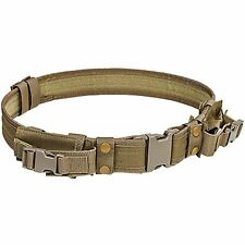 NcSTAR CVBLT2978T Tactical Law Enforcement Police 2 Pistol Mag Duty Belt Tan