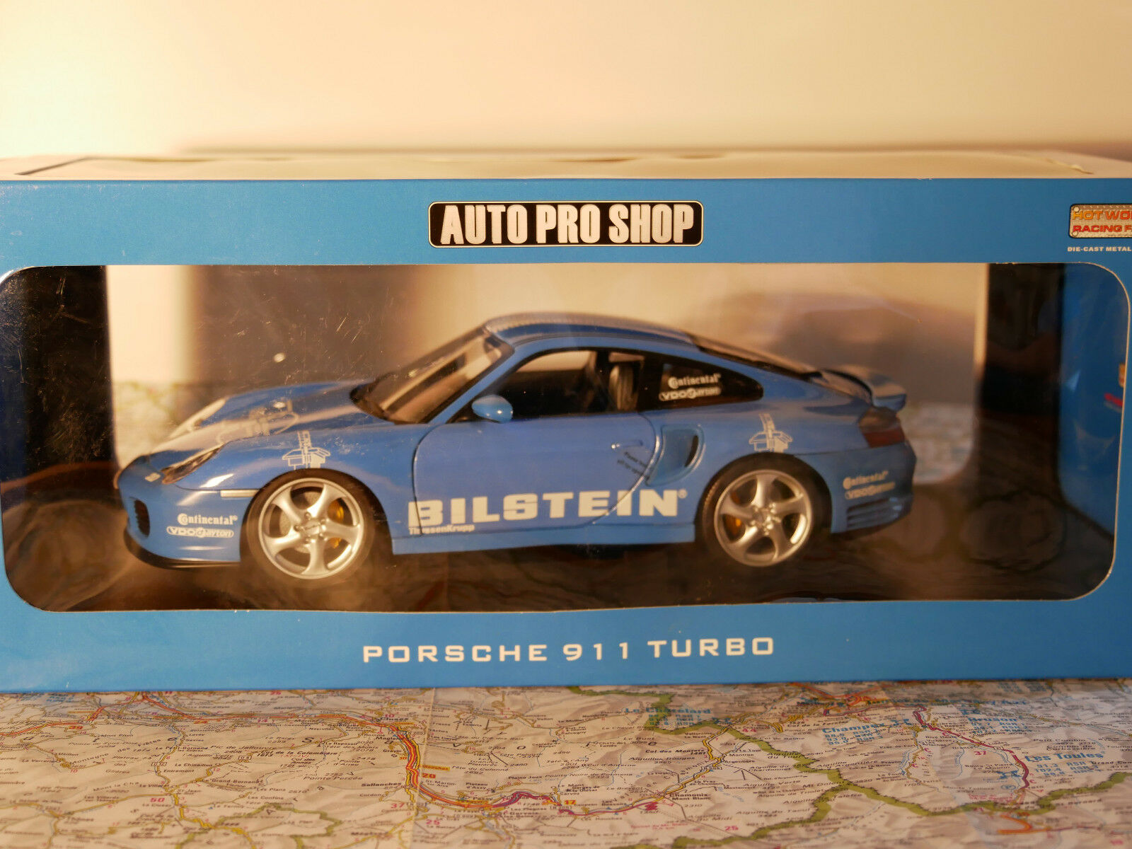 HOT WORKS RACING FACTORY AUTO PRO SHOP PORSCHE 911 TURBO + KIT 1 18 NEW