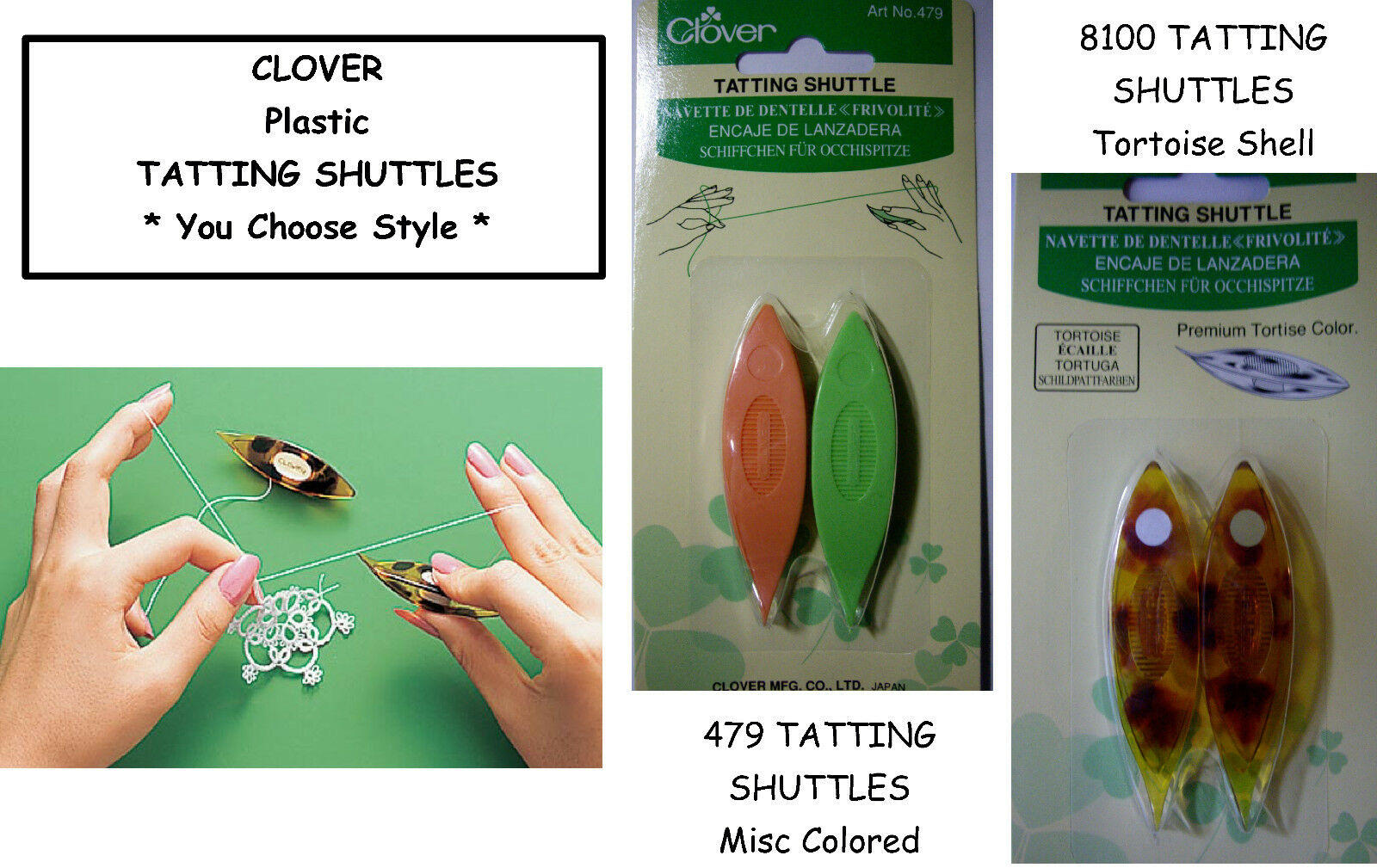 Clover 8109 Storage Case for Spare Bobbins Tatting Shuttles New